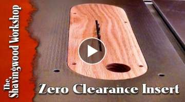 Make a Zero Clearance Insert