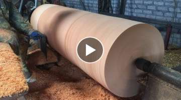 Dangerous Woodturning | Giant Wood Lathes - One Big Tree Create A Wood Vase