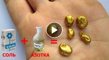 Nitric acid + salt = gold (English subtitles)