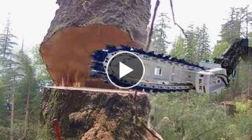 Intelligent Technology Unusual Woodwork Turbo ChainSaw Log Splitter CNC Sawmill Mega Machines Saw