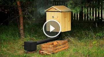 Wooden Smokehouse - Räucherei by Metal Works - BBQ, Camping Stove - 100% Handmade!