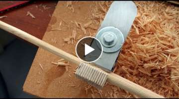 Dowel Cutting - Rounder Plane - How to make