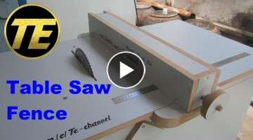 DIY - Make A Table Saw Fence For Homemade Table Saw