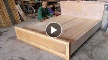 Amazing Smart Techniques Carpenter Woodworking - Making And Assemble A Largest Bed Sleep