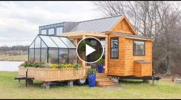 Dream Tiny House With Greenhouse