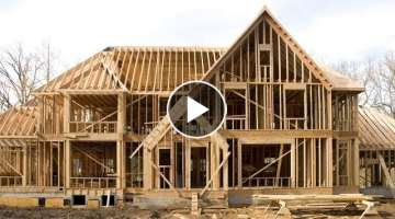 World Amazing Modern 24 Hours House Build Time Lapse. House Built in One Day Timelapse Constructi...