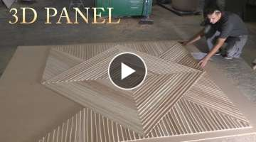 Making Awesome Wall 3D Panel with CNC
