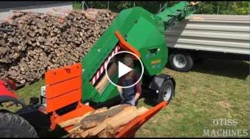 10 Extreme Fast Automatic Firewood Processing Machine,Modern Wood Cutting Machine Splitting Firew...