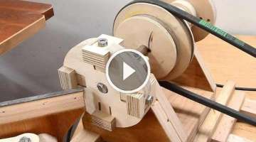 Making a 4-jaw lathe chuck