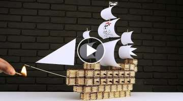 How to Build Pirate Ship from Matches Without Glue