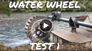 Innovative Poncelet Water Wheel