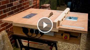 Homemade table saw with built in router and inverted jigsaw 3 in 1