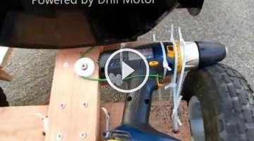 DIY Go Kart Powered by Drill Motor