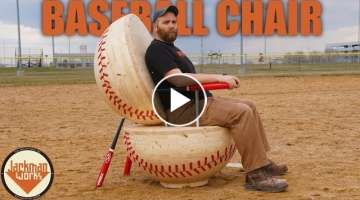 Building a Giant Baseball Chair (from 2x4s)