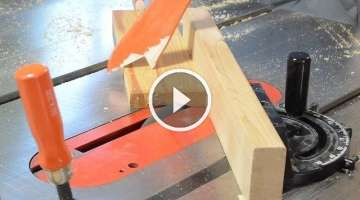 Cove cutting on the table saw: improved method
