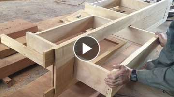 Awesome Woodworking Technique Handicrafts Skills // Make Storage Drawer Fast And Simple