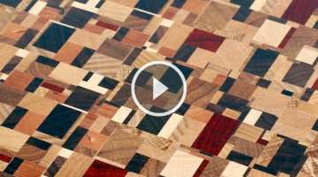 Chaotic pattern end grain cutting board