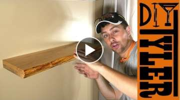 Invisible Hardware Live Edge Floating Shelf | How to Make