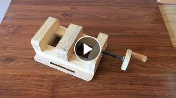 How to Make a Drill Press Vise - El Yapımı Matkap Mengenesi