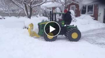 Awesome VIDEO John Deere 9630 plowing Don Campbell Models 184