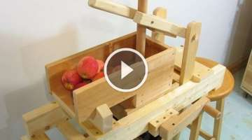 Homemade apple grinder