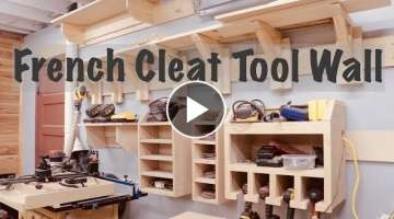 French Cleat Tool Wall | Woodworking Clamp Rack