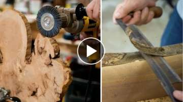 How To Clean & Prepare Live Edge Slabs // Woodworking Tips