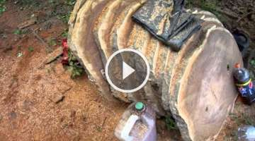 How to Cut Boards & Planks With a chainsaw freehand