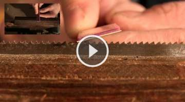How to Sharpen a Woodworking Handsaw with Paul Sellers