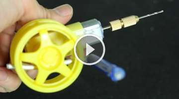 How to make a Hand Powered Drill - Eggbeater drill