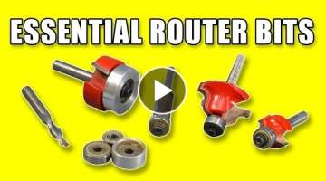 5 Essential Router Bits - Woodworking For Beginners