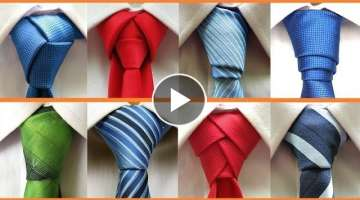 8 Different ways to tie a necktie . How to tie a tie