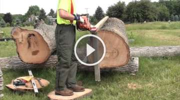 Preparing Large Logs for the Sawmill