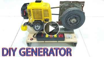 Build 220v Dynamo Generator Using 4-stroke Engine