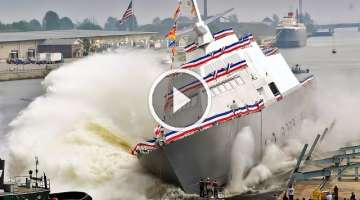Launching ships in water - scary and funny