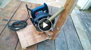 HOMEMADE CIRCULAR SAW STAND