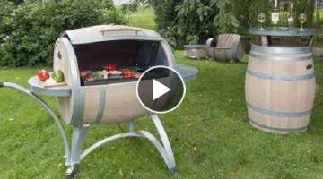 Beautiful furniture made of old wooden barrels. More than 50 ideas!