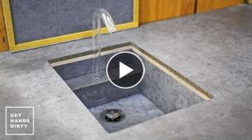 Studio Kitchen: Making a Sink, Countertop, Tap and Water System - Ep. 3