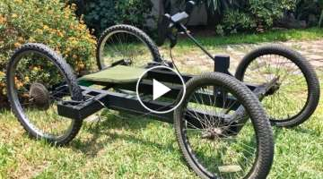 Building a homemade wooden car with bicycle wheels