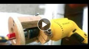 Amazing homemade drill attachment hack – Convert your Drill in to Router
