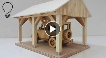 Making a Carport Toy for Wooden Cars