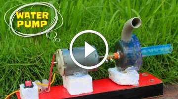 How to make High Power Mini Water Pump at home - Mini Centrifugal Pump