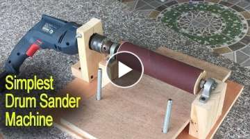 Amazing Simplest Drum Sander Machine DIY - Perfect Woodworking With Tools