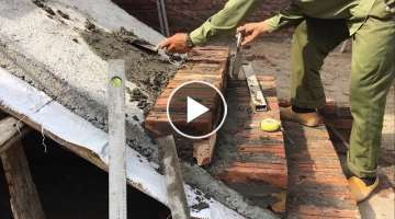 Construction Stair - How to Install Bricks on The Sloping Surface Create Step Stairs With Bricks