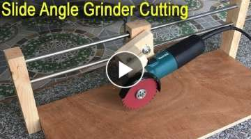 Amazing Fastest And Safety Slide Angle Grinder Cutting DIY Woodworking Tools
