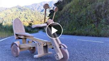 How to Make a Wooden Tricycle Go-Kart at Home. | DIY .