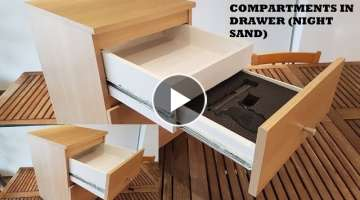 DIY / TUTO : How to make secret compartments in drawer (With an IKEA Malm Nightstand)