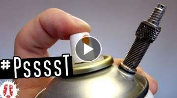 DIY Refillable Compressed Air Duster From Empty Can