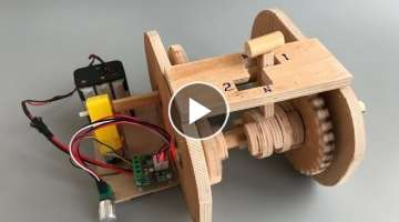 DIY 2 speed gearbox from plywood