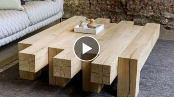 Tables Made Of Wood! More Than 40 Design Options